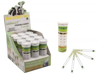 Test strips for titratable acidity